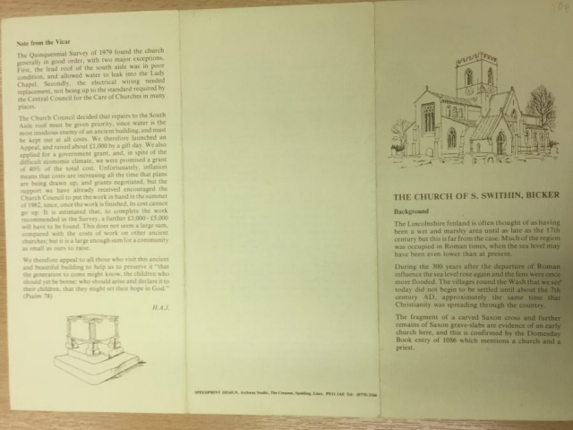 HH STSW c1980 Church Guide pamphlet 3