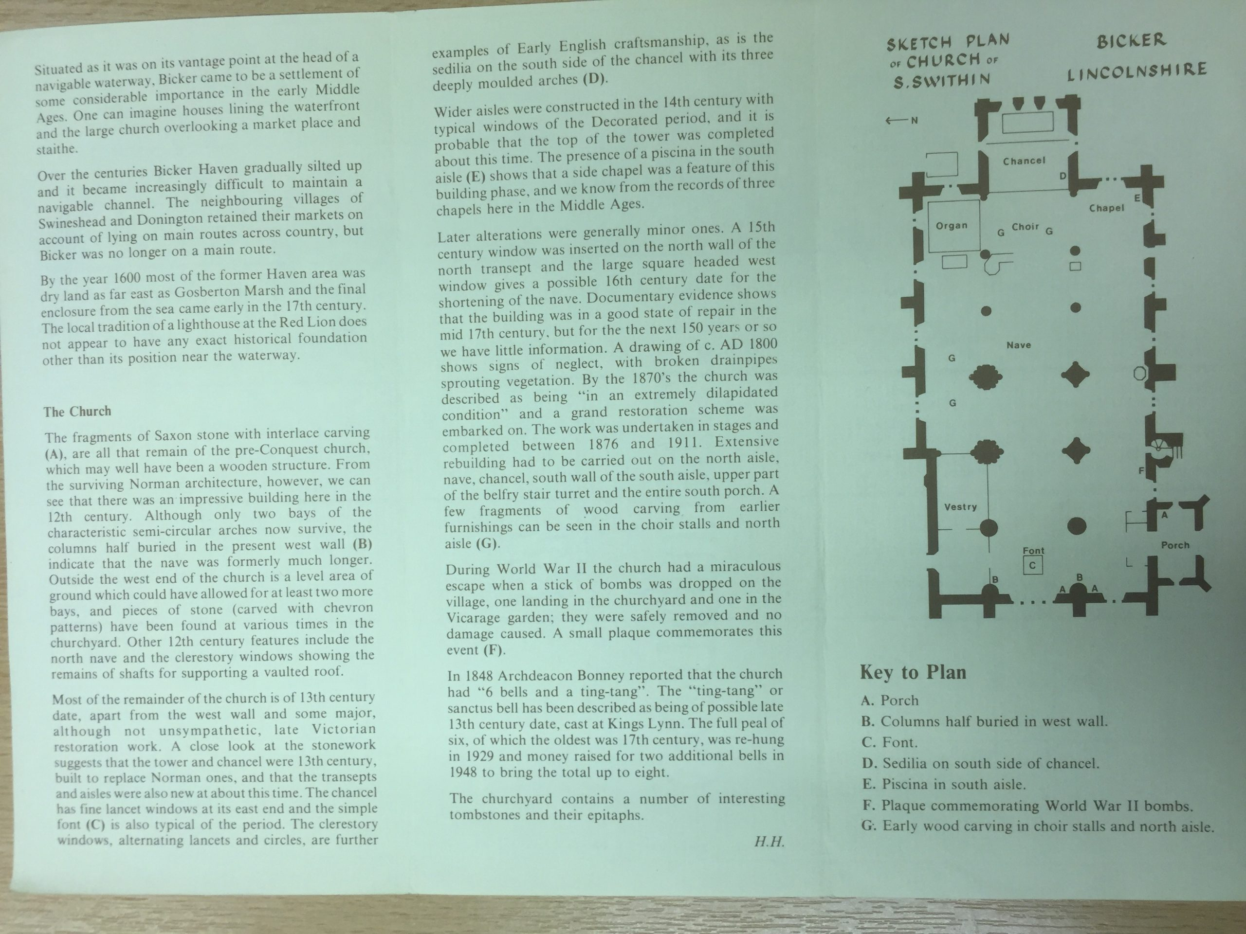 HH STSW c1980 Church guide pamphlet 4