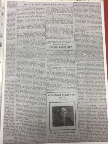 HH STSW 1850 Rev Henry Thomas Fletcher death (2)