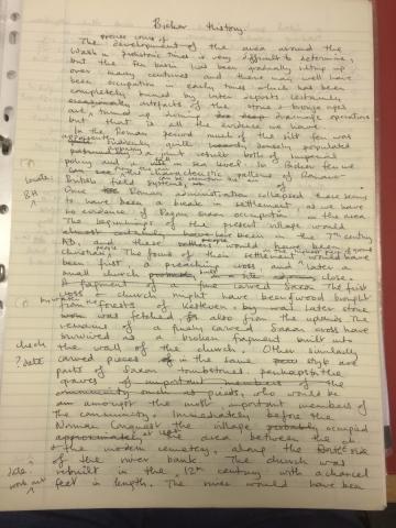 HH history handwritten 1