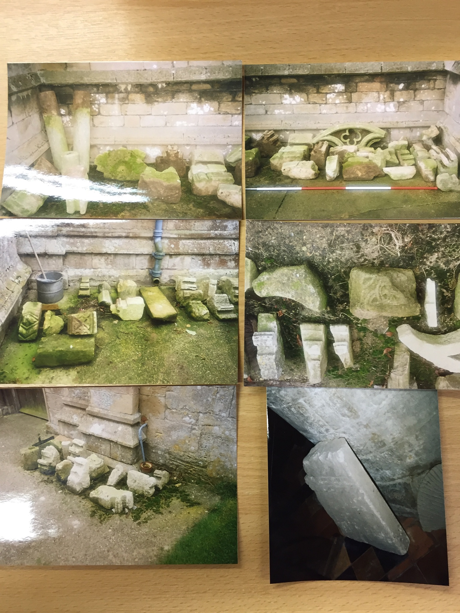 HH STSW 1995 Fragments of church stone carvings