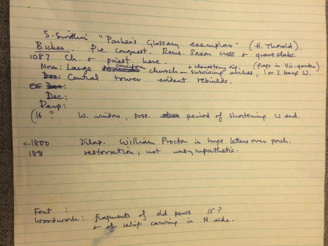 HH STSW c1970 More notes on fragments of Anglo Saxon Stones