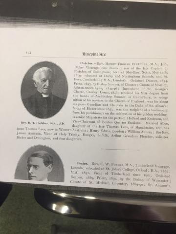 HH STSW c1850 Rev Henry Thomas Fletcher b1819