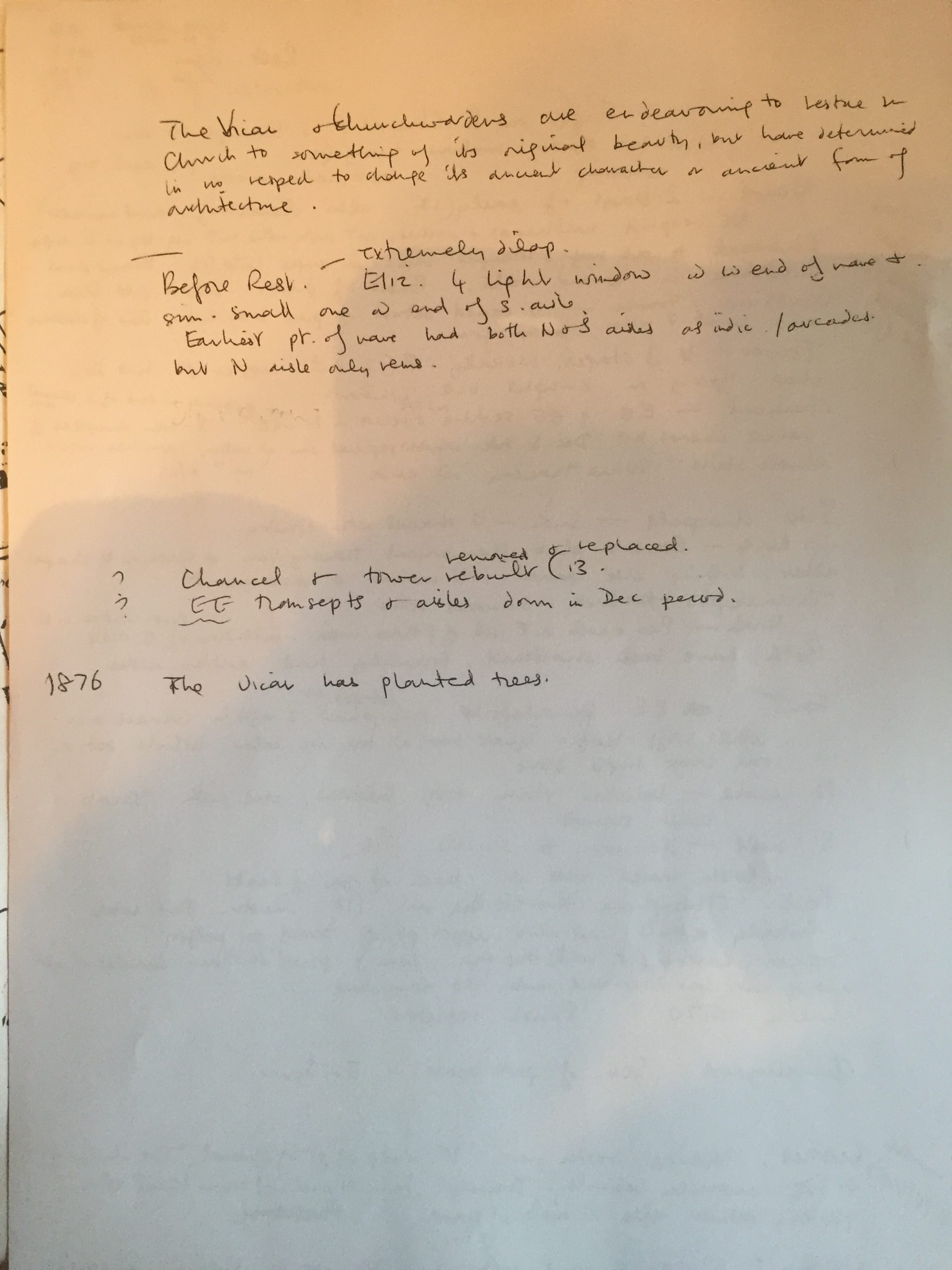 HH Bicker history and vicars Notes 25