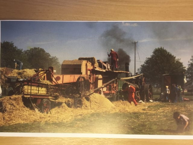 c1980 Photo steam threshing