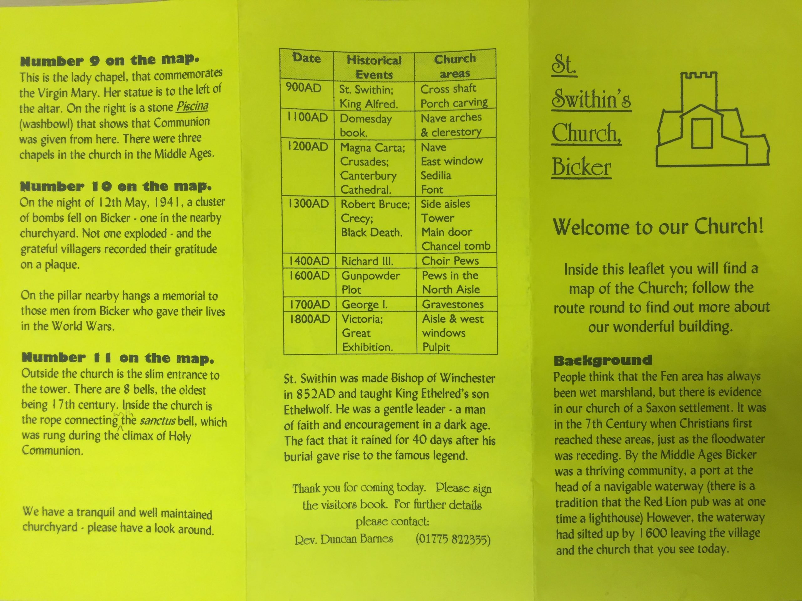 HH STSW c1980 Pamphlet Church Guide 1