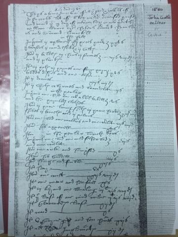 1580 John Curtis Milner Flowing Script
