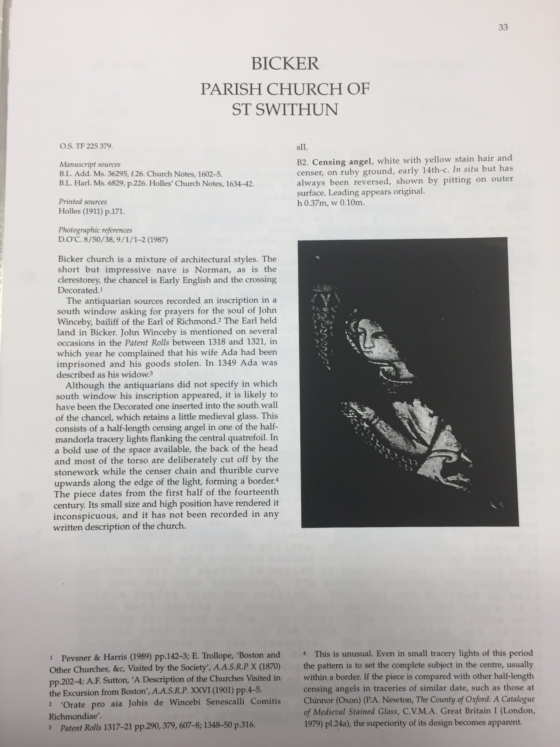 HH STSW Notes on St Swithun's church