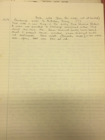HH STSW 1219 Notes on naves and vicar's duties