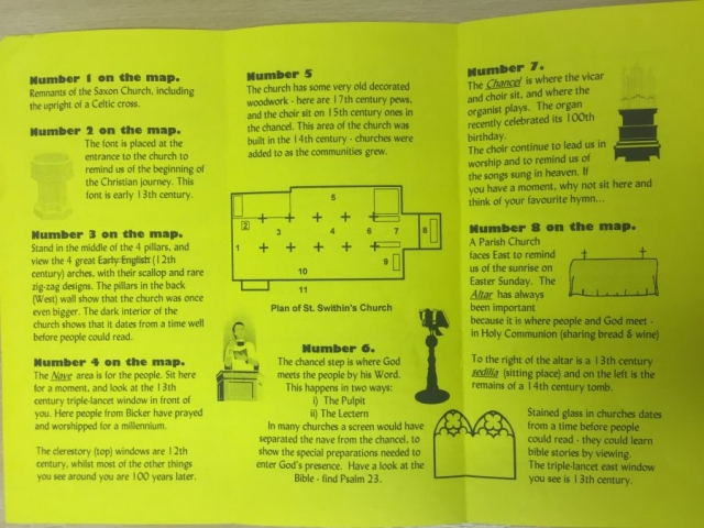 HH STSW c1980 pamphlet church guide 2