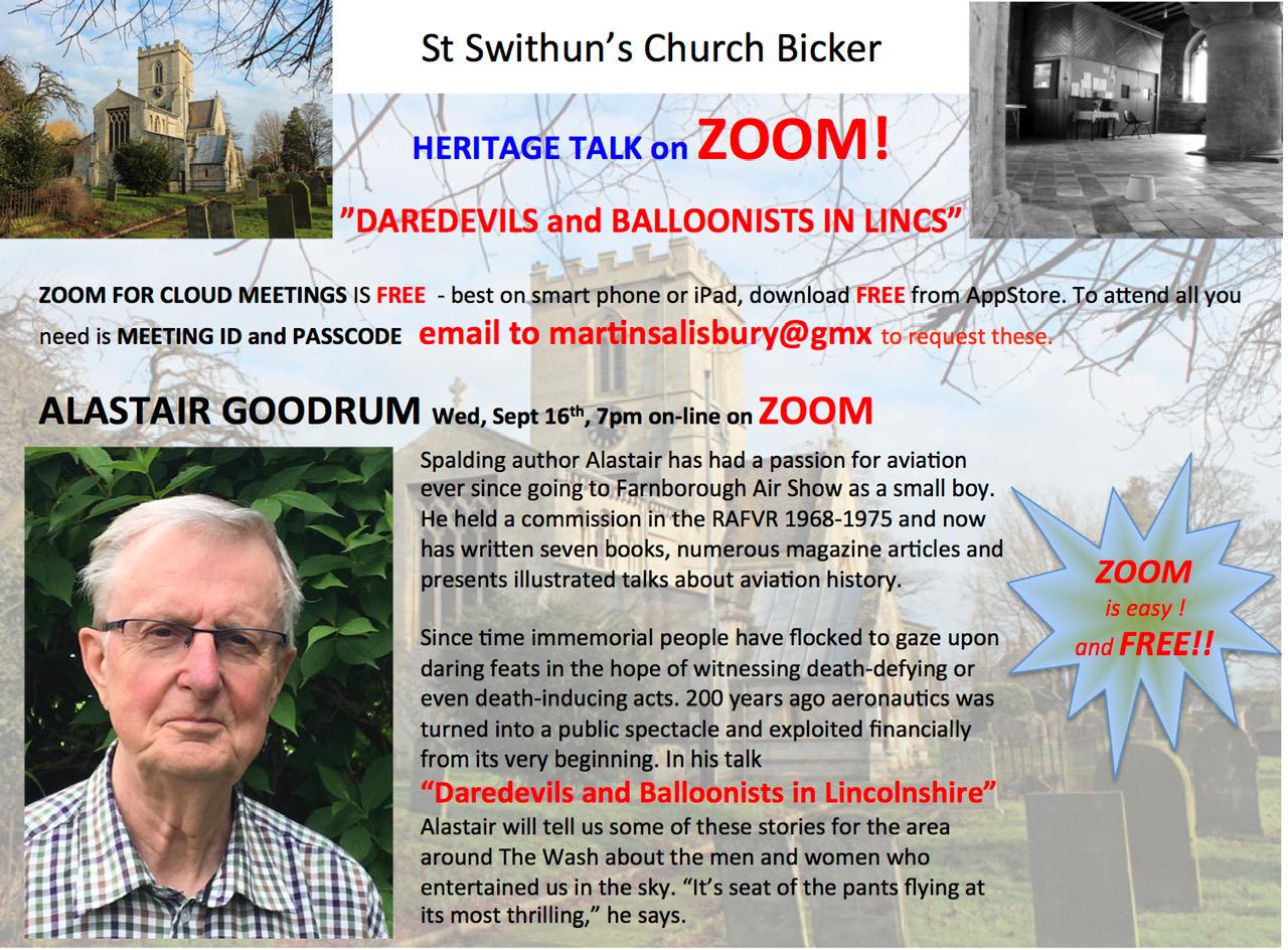 Alastair Goodrum ZOOM Heritage Talk 16 Sep 2020
